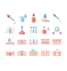 Colorful skin care icons set vector