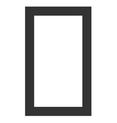 Contour rectangle flat icon vector