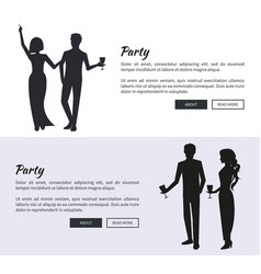 corporate party set of posters vector image