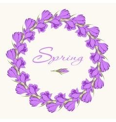 crocus wreath 1 vector image