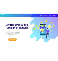 cryptocurrency market lp template vector image