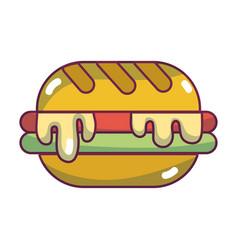 delicious hamburger unhealthy fast food vector image