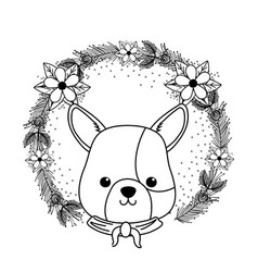 Dog cartoon with kerchief design vector