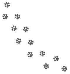 dog print vector image