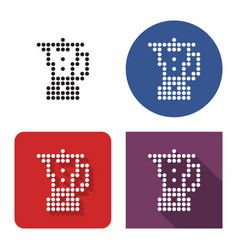 Dotted icon blender in four variants with vector