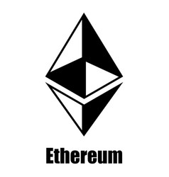 Ethereum icon simple style vector