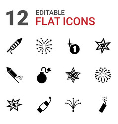 firework icons vector image