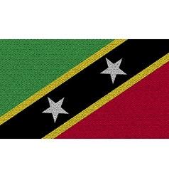 Flags Saint Kitts Nevis on denim texture vector image