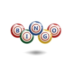 Flying Bingo Balls vector