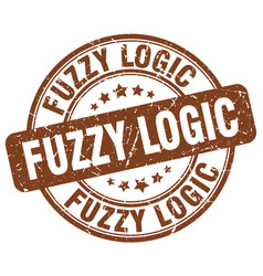 Fuzzy logic brown grunge stamp vector