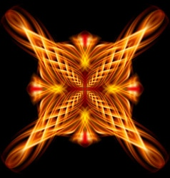 Golden pattern on the black background vector image