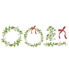hand drawn wreath seamless border and holiday vector image