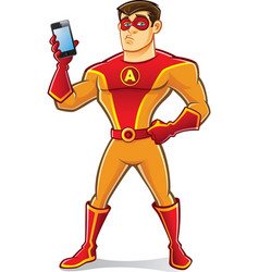 Handsome Superhero Gadget vector