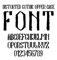Handwritten black distorted gothic upper case vector image