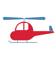 helicopter simple art geometric vector image