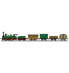 Historical steam train vector