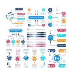 infographic financial charts workflow graph vector image