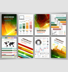 infographic templates and abstract brochure design vector image