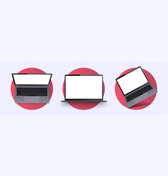 laptop frame less blank screen realistic laptop vector image