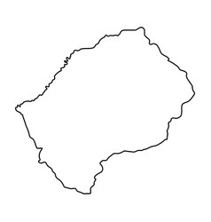 lesotho map of black contour curves on white vector image