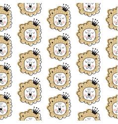 lion king pattern vector image