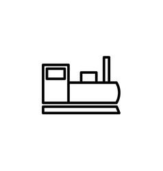 locomotive icon line style icon vector image