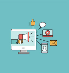 marketing elements vector image