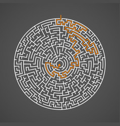 Maze labyrinth puzzle game pattern vector