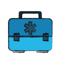 Medical suitcase first aids vector