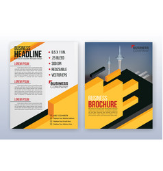 Modern business annual report template vector