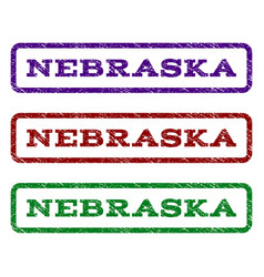 Nebraska watermark stamp vector