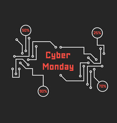 pcb elements like cyber monday vector image