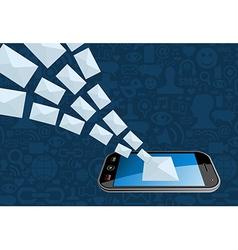 Phone email marketing icon splash vector