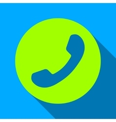 Phone Number Flat Long Shadow Square Icon vector