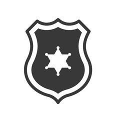 Police badge police related icon vector