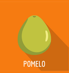 Pomelo icon flat style vector