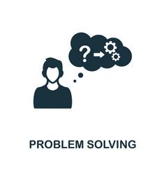 Problem solving icon monochrome simple element vector