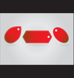 red banner set on background vector image