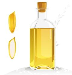 Rice brand oil vector