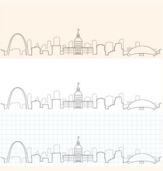 Saint louis hand drawn skyline vector