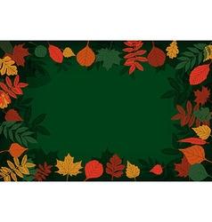 School Board in a frame of leaves vector
