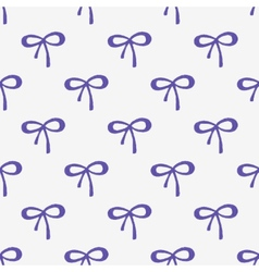Seamless watercolor pattern with tiny bows on the vector image