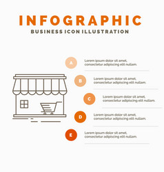 shop store market building shopping infographics vector image