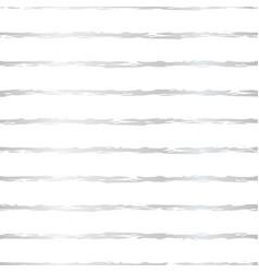 silver foil hand drawn brush stroke horizontal vector image