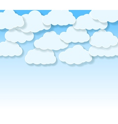 sky with cartoon clouds vector image