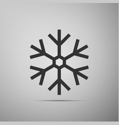 snowflake icon isolated on grey background vector image