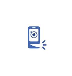 speaking-phone-logo vector image