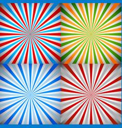 starburst sunburst burst rays background set vector image