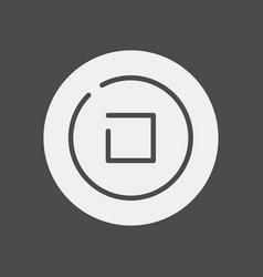 stop icon sign symbol vector image