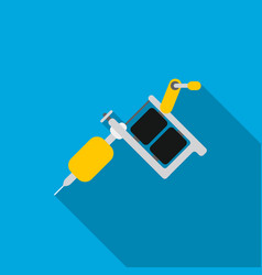 tattoo machine icon flate single tattoo icon from vector image